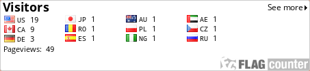 http://s08.flagcounter.com/count/9BM/bg_FFFFFF/txt_000000/border_CCCCCC/columns_5/maxflags_12/viewers_0/labels_1/pageviews_1/flags_0/